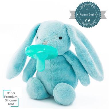 Minikoioi, Smoczek uspokajający z przytulanką Blue Bunny