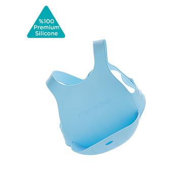 Minikoioi, Śliniak silikonowy z kieszonką niebieski
