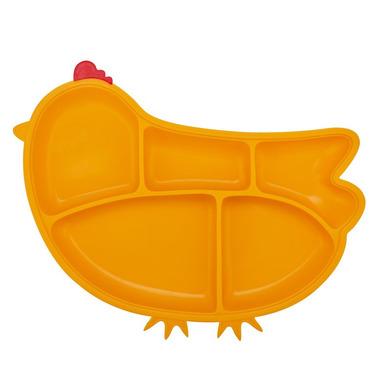 InnoBaby, Silikonowy talerzyk z przegródkami i przyssawkami żółta kurka