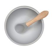 Minikoioi, Miseczka silikonowa z pokrywką szara