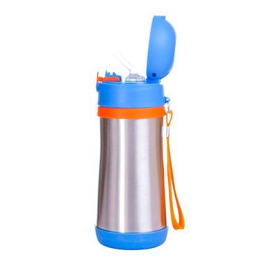 Bidon termiczny - BABYFOOD (niebiesko-pomarańczowy)