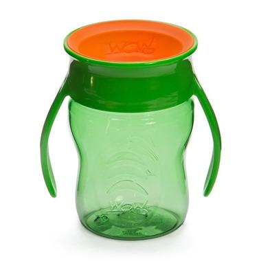 WOW, CUP 360 zielony przejściowy kubek treningowy 207 ml