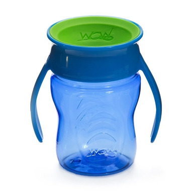 WOW, CUP 360 niebieski przejściowy kubek treningowy 207 ml