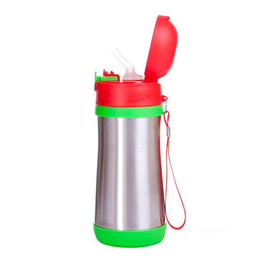 Bidon termiczny - BABYFOOD (zielono-czerwony)