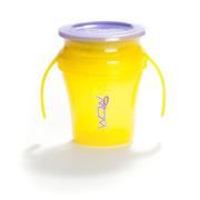 WOW, Baby Kubek 360 st. z uchwytami żółty