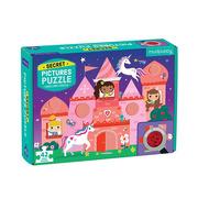 Mudpuppy, Puzzle z ukrytymi obrazkami Zamek jednorożca 42 elementy 3+