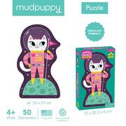 Mudpuppy, Puzzle w kształcie postaci Kotka w kosmosie 50 elementów 4+