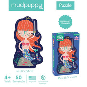 Mudpuppy, Puzzle w kształcie postaci Syrenka 50 elementów 4+