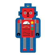 Mudpuppy, Puzzle w kształcie postaci Robot 50 elementów 4+