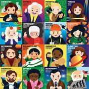 Mudpuppy, Puzzle rodzinne Wybitni naukowcy 500 elementów 8+