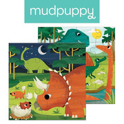 Mudpuppy, Puzzle magnetyczne Dinozaury 4+