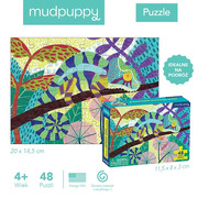 Mudpuppy, Puzzle mini Kameleon lamparci 48 elementów 4+