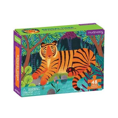 Mudpuppy, Puzzle mini Tygrys bengalski 48 elementów 4+