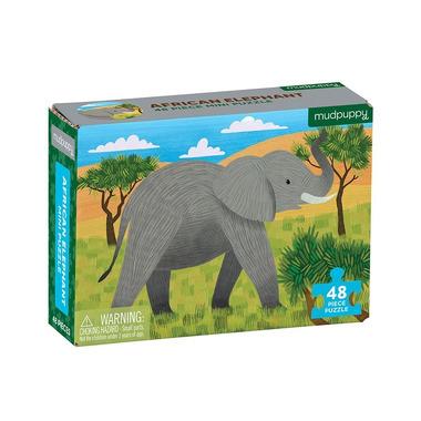 Mudpuppy, Puzzle mini Słoń afrykański 48 elementów 4+