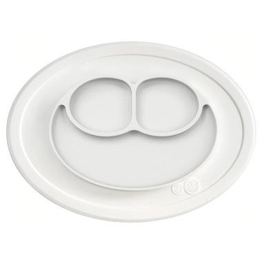 EZPZ, Silikonowy talerzyk z podkładką mały 2w1 Mini Mat biały