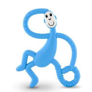 Matchstick Monkey, Dancing Light Blue Terapeutyczny Gryzak Masujący ze Szczoteczką