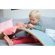 Wobbel, Deska do balansowania Starter Transparent z filcem - baby mouse