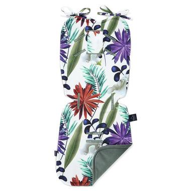La Millou, Velvet Collection - Thick Stroller Pad - Botanic Garden Bright - Khaki