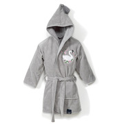 La Millou, Szlafrok Bamboo Soft - Large - Grey - Moonlight Swan