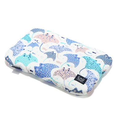 La Millou, Baby Bamboo Pillow - Manta Ray