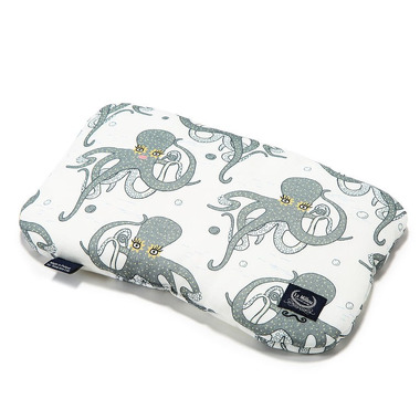 La Millou, Baby Bamboo Pillow - Sea Beauties Grey
