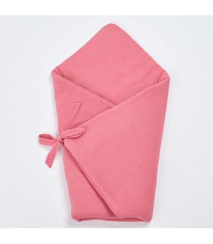 Bimbla, Muślinowy rożek niemowlęcy - różowy