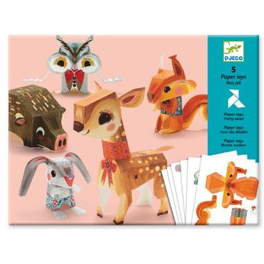 Djeco, papierowe zwierzęta