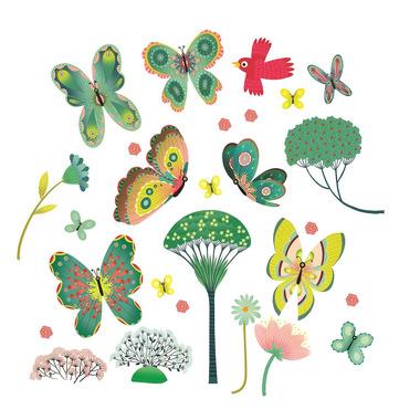 Djeco, Naklejki na okno Motylki w Ogrodzie