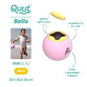 Quut, Małe wiaderko wielofunkcyjne Mini Ballo Sweet Pink + Yellow Stone