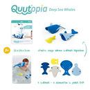 Quut, Zestaw puzzli piankowych 3D Quutopia Wieloryby