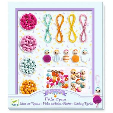 Djeco, Zestaw do tworzenia biżuterii Perły i Figurki