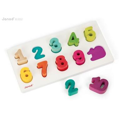 Janod, puzzle Cyferki