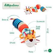 Lilliputiens, Pluszowy wałek dźwiękowy 4-elementowy Lew Jack 6 m +