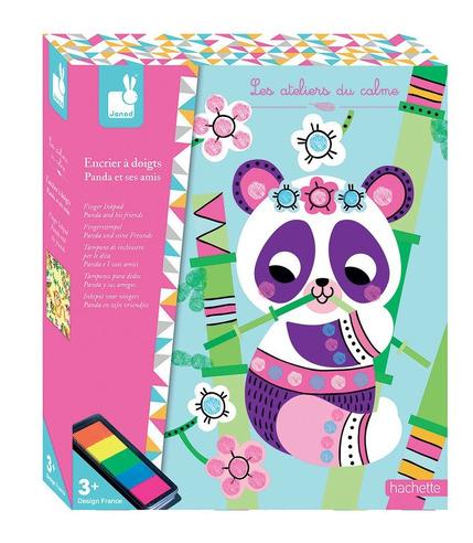 Janod, Zestaw kreatywny Kolorowy tusz Panda i przyjaciele