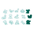Janod, Zestaw kreatywny Stempelki Dinozaury