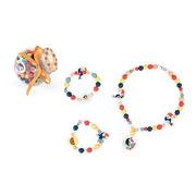 Janod, Zestaw do tworzenia biżuterii Drewniane koraliki Tukany