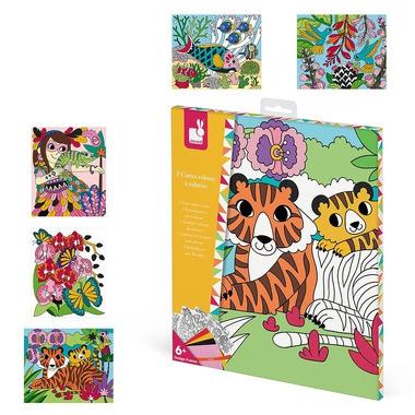 Janod, Zestaw kreatywny Aksamitne karty Tropikalna dżungla