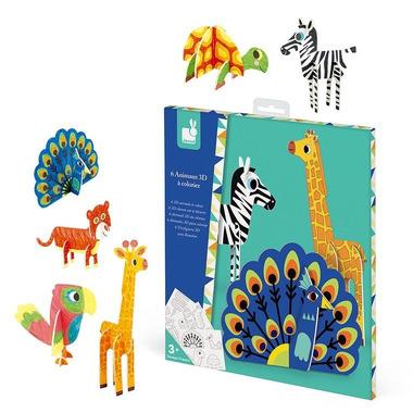 Janod, Zestaw kreatywny Papierowe zwierzęta 3D