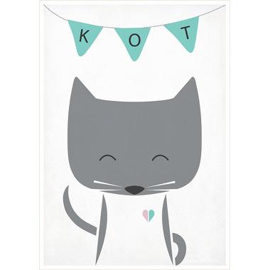 Plakat A4 Kot