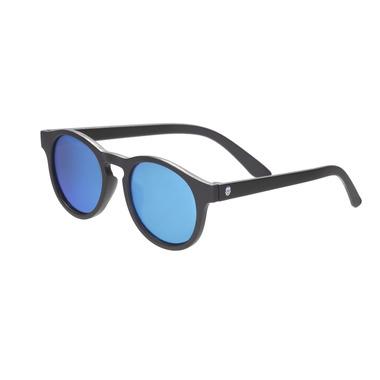 Babiators, Okulary przeciwsłoneczne dla dzieci Black Ops Black with Blue Mirrored Lenses (The Agent) 0-2