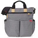 Skip Hop, Torba Duo Signature Black/White Stripe
