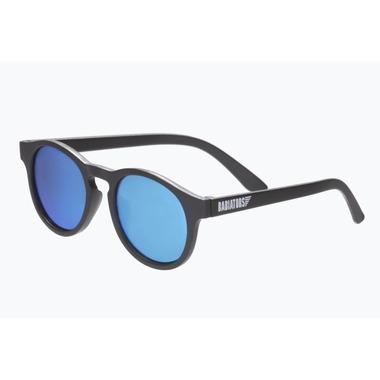 Babiators, Okulary przeciwsłoneczne dla dzieci Black Ops Black with Blue Mirrored Lenses (The Agent) 6+
