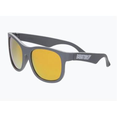 Babiators, Okulary przeciwsłoneczne dla dzieci Galactic Gray with Orange Mirrored Lenses (The Islander) 6+