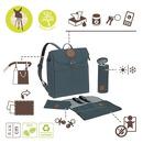 Lassig, Green Label Plecak dla mam z akcesoriami Adventure Backpack Petrol