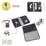 Lassig, Casual Label Etui-organizer na akcesoria do przewijania Feathers black