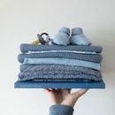 Little Dutch, Letni śpiworek bawełniany bez rękawków Pure blue 70 cm