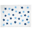 Dywan do prania w pralce White Stars Blue-Navy
