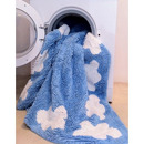 Dywan do prania w pralce White Stars Fucshia-Pink