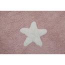 Dywan do prania w pralce Pink Stars White