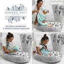 La Millou, Ręcznik Bamboo Soft - Newborn - Grey - Yoga Candy Sloth Blue